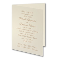 Traditional Grace - affordable and cheap invitation