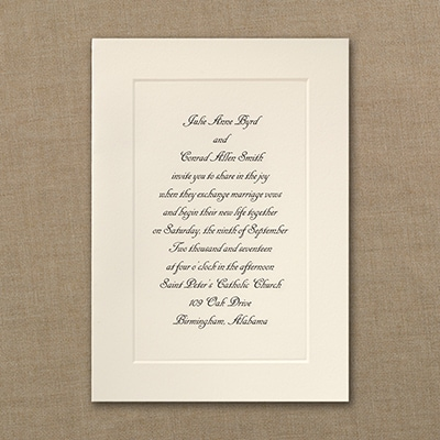 Traditional Panel Grace Engraved Invitation Wedding Invitations