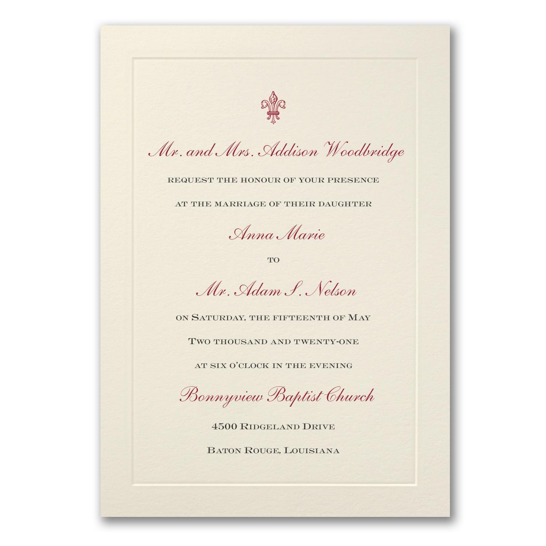 Ecru Flair Invitation Wedding Invitations Carlson Craft View
