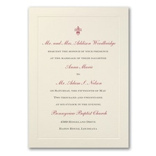 Wedding Invitation: Ecru Flair