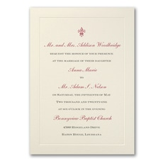 Ecru Flair - Wedding Invitation