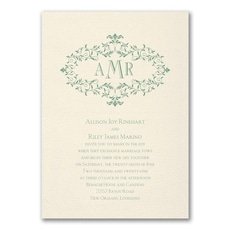 Wreath of Filigree  - affordable and cheap invitation