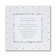 Jeweled Love - Wedding Invitation