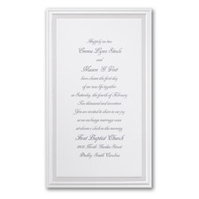 Elegant Wedding Invitations: Pearl Poetry