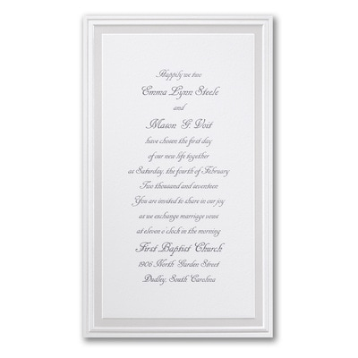 Pearl Poetry - White - Invitation