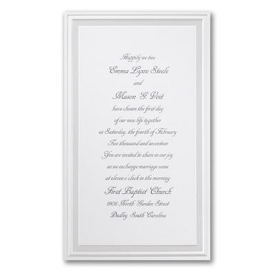 Pearl Poetry - White - Invitation