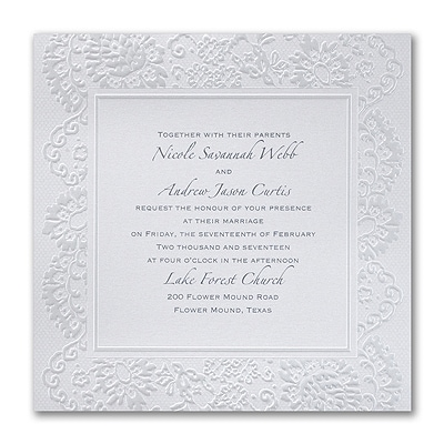 Lace Embrace Invitation