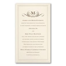 minimalist wedding invitation: Pearl Poetry