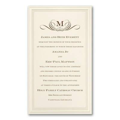 Pearl Poetry - Ecru - Invitation