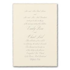 Sophisticated Edges - Wedding Invitation