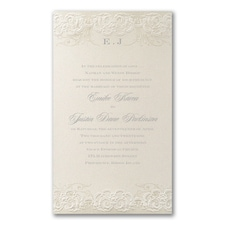 traditional invitation: Rococo Romance Invitation
