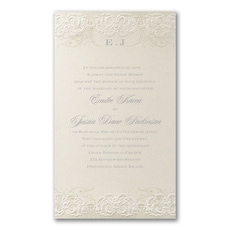 Rococo Romance Invitation - Wedding Invitation