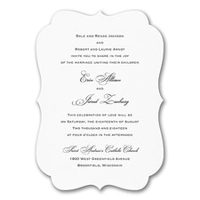 Elegant Wedding Invitations: Simply Elegant