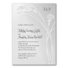 Wedding Invitation: Classic Callas
