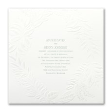 Pearl Wreath - Wedding Invitation