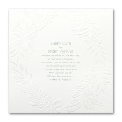 Pearl Wreath - Invitation