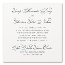 Modern wedding Invitation: Perfect Sophistication