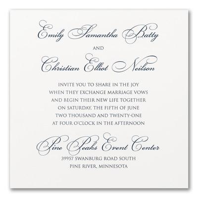 Perfect Sophistication - Invitation