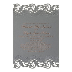Perfectly Pewter  - Modern Invitation
