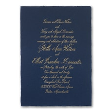 Navy Deckle - Wedding Invitation