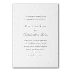Lavish Lattice - Wedding Invitation