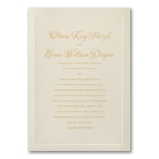 Elegant Wedding Invitations: Shimmering Border
