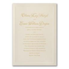 Shimmering Border - Wedding Invitation