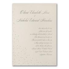 Champagne Shimmer - Invitation