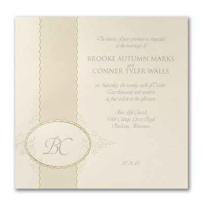 Opulent Monogram - Invitation