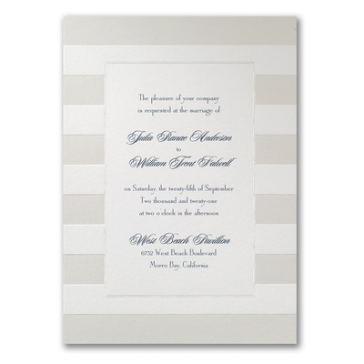 Sumptuous Stripes - Invitation