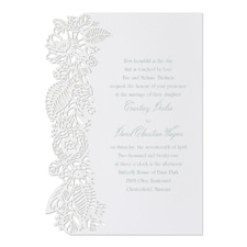 laser cut invitation: Floral Cut