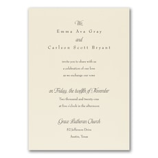 Relaxed Affections Invitation  - Wedding Invitation