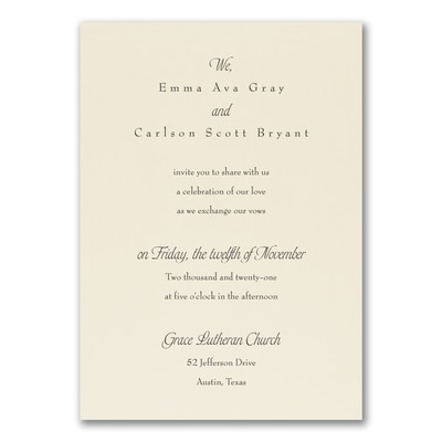 Relaxed Affections Invitation