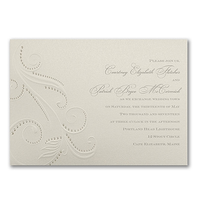Beaded Flourish - Invitation