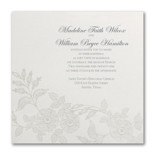 Wedding Invitation: Flowers on Shimmer