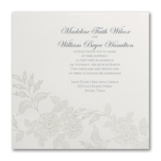 Flowers on Shimmer - Wedding Invitation