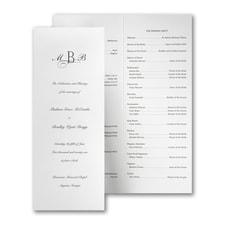 Crisp and Tall Wedding Program - White