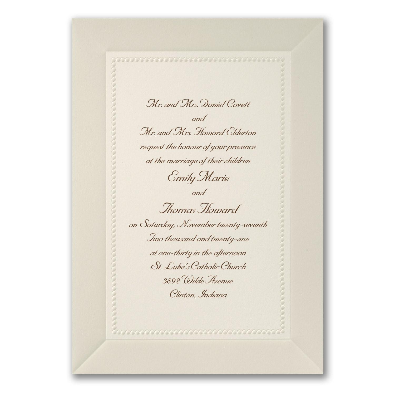 Pearl Elegance Invitation Ecru Wedding Invitations Carlson