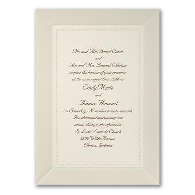 Pearl Elegance - Invitation - Ecru