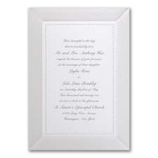 Elegant Wedding Invitations: Adorned in Pearl