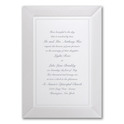 Adorned in Pearl - White - Invitation