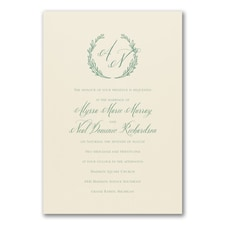 Simple wedding invitations: Country Leaf