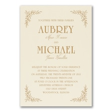 Simple wedding invitations: Precious Vines