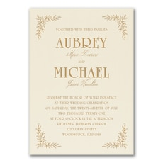Precious Vines - Wedding Invitation