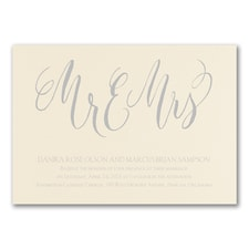 Wedding Invitation: Handwritten Love