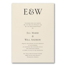 Elegant Wedding Invitations: Timeless Affair