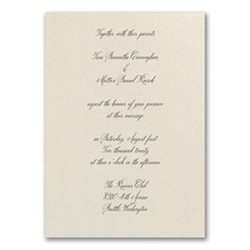 Elegant Wedding Invitations: Traditional Elegance