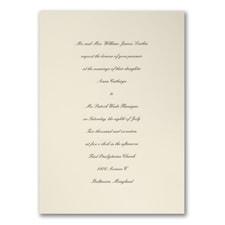 Recherché Ecru Card - Invitation
