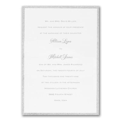 Silver Border Elegance - Invitation