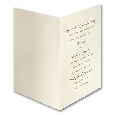 royal ecru folder engraved invitation wedding invitations